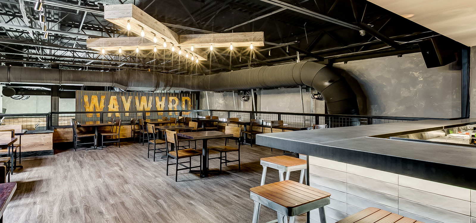 Wayward Smokehouse and Curious Oyster Restaurants, The Avenue at White Marsh, commercial renovation by UrbanBuilt