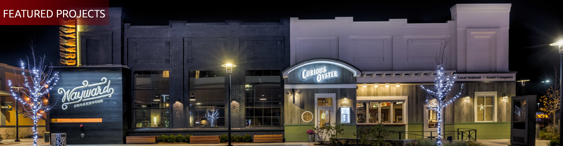 Wayward Smokehouse and the Curious Oyster, the Avenue at White Marsh, by UrbanBuilt